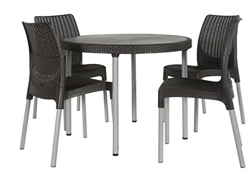 Keter jersey outdoor dining table and chairs furniture