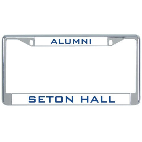 Seton Hall Alumni Metall Nummernschild Rahmen in Chrom Alumni 30,5x 15,2cm