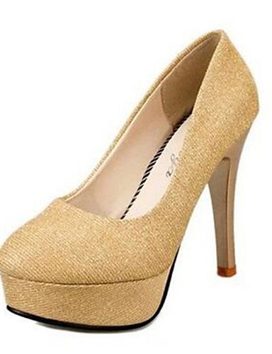 WSS 2016 Chaussures Femme-Soirée & Evénement-Noir / Or-Talon Aiguille-Talons-Talons-Synthétique golden-us6 / eu36 / uk4 / cn36