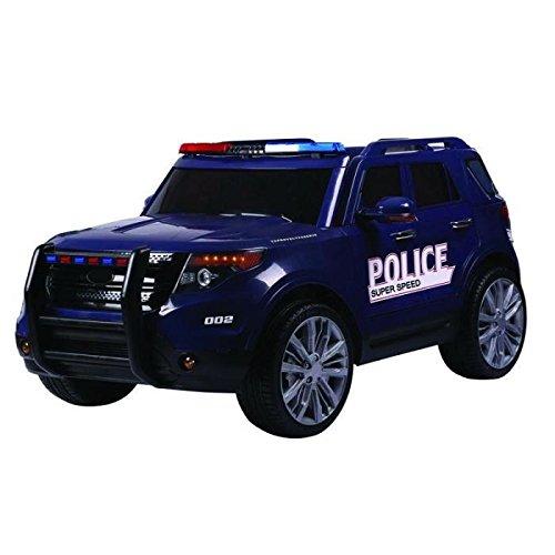 Voiture électrique enfant Police 12V (Bleu)