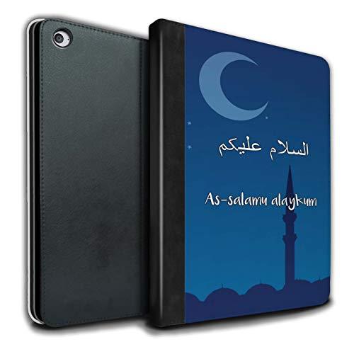 Stuff4® PU-Leder Hülle/Case/Brieftasche für Apple iPad Air 2 Tablet/As-Salamu Alaykum Muster/Islam Koran Vers Kollektion