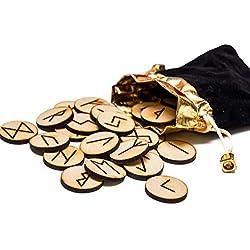 Set de 25 runas de madera