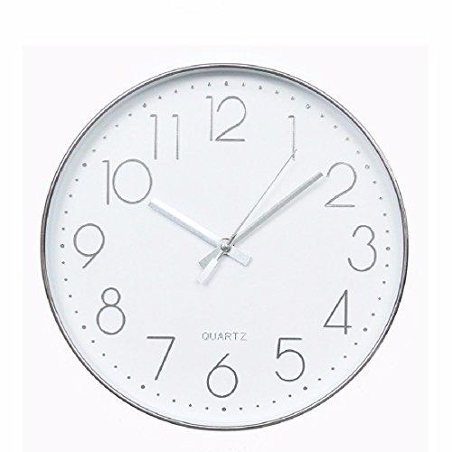 KHSKX Horloge Murale, Minimaliste élégant Salon Silence Imitation Or Rose métal Table Suspendue, Silencieux Silencieux Chambre Ronde réveil, réveil,Un