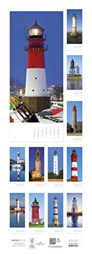 Leuchttürme 2018 - Lighthouses - Streifenkalender XXL (25 x 70) - Landschaftskalender: Alle Infos bei Amazon