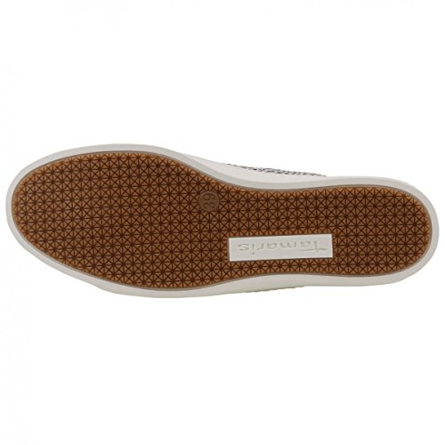 TAMARIS Damen Sneaker Silber Silber (BLK DOTS COMB 995)