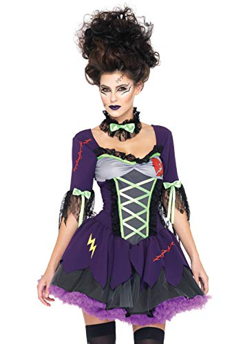 Leg Avenue 83974 - Frankie's Bride Kostüm Set, Größe XS, lila (Frankies Braut Kostüm)