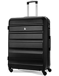Aerolite Lightweight 4 Wheel ABS Hard Shell Luggage Suitcase with Built in TSA Combination Lock