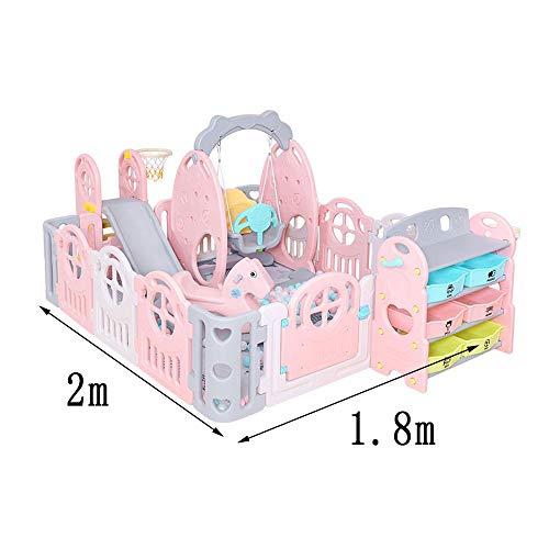 Imagen para DS- Cerca de bebé Valla de Seguridad, Diapositiva Cerca del bebé Inicio bebé Alfombra de Arrastre de Interior Niño pequeño Cerca del Juego de los niños && (Color : D)