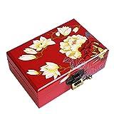 ZHAO YELONG Caja De Pintura China Retra Pintada A Mano, Doble Caja De Madera, Ilustraciones, Regalo Hecho A Mano (Color : Rojo)