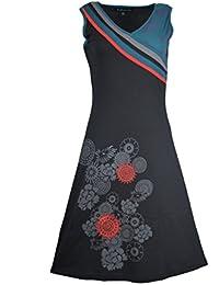 Damen-Sommer-Sleeveless Kleid mit Blumen-Muster-Druck