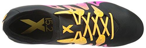 adidas Herren X 15.2 FG/AG Fußballschuhe Schwarz (Core Black/Shock Pink/Solar Gold)