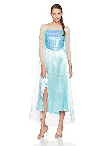 rwachsene Kostüm (X-Large (18-20)) (Elsa Deluxe Frozen Kostüme)