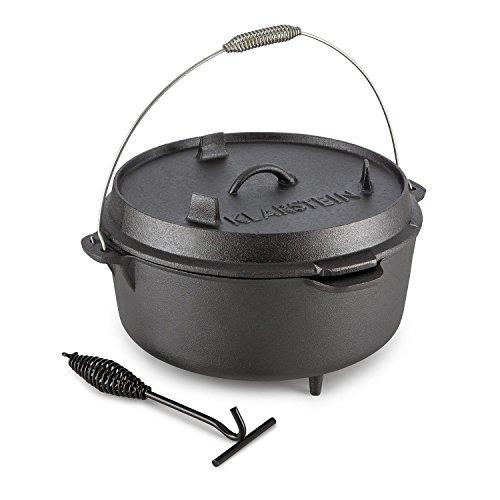 KLARSTEIN Hotrod 145 - Dutch Oven, Gusstopf, BBQ-Topf, Volumen: 12 qt / - Oven 12ft Dutch