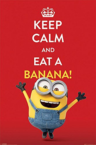 Minions – Dave, Keep Calm And Eat A Banana Póster (91 x 61cm)