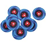 10pcs Accesorios Juego de Mesa Chips Fichas de Póker Mahjong Texas Forma Corazón Cerámica Bricolaje - Azul
