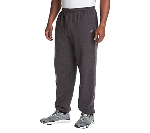 Champion Big and Tall Fleece Pant Charcoal Grey