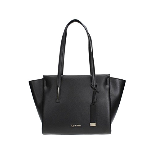 Calvin Klein Damen Frame Medium Shopper Tote, Schwarz (Black), 14x30x44 cm (Tote Handtasche Medium Bag)