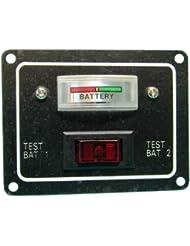 Testeur de batterie électrique avec indicateur pour bateau ou caravane - 12 V