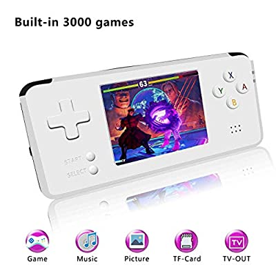 YLM Handheld Game Console, Retro Game Console 3 Inch HD Screen 3000 Classic Game Console , Entertainment System Portable Video Game Great Gift for Kids by