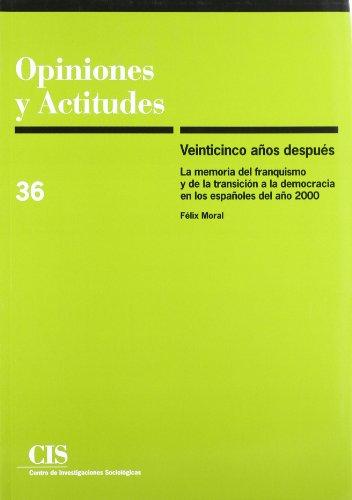 Veinticinco años después: La memoria del franquismo y de la transición a la democracia en los españoles del año 2000 (Opiniones y Actitudes)