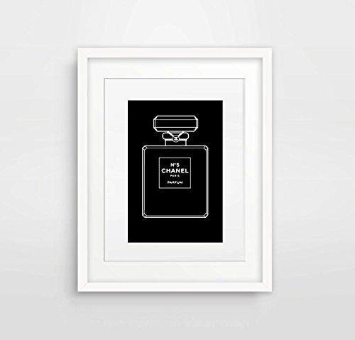 impression-originale-de-la-bouteille-de-parfum-chanel-n-5-en-noir-et-blanc-8-x-10