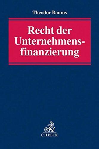 Recht der Unternehmensfinanzierung