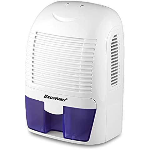 Excelvan XROW 800A - 1.5L Deshumidificador de Aire Portátil Secador Evitar Humedad (Silencio, Bajo Consumo, para 20m³, Auto Apagado, para Baño Cocina Garaje Armarios)