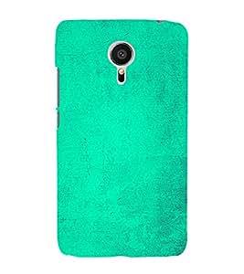 Light Green Texture 3D Hard Polycarbonate Designer Back Case Cover for Meizu MX5