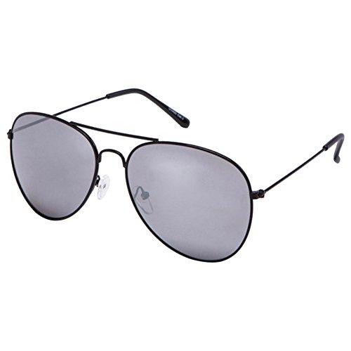 Ciffre EL-Sunprotect® Pilotenbrille Fliegerbrille Sonnenbrille Brille Top Design Schwarz Silber Glässer