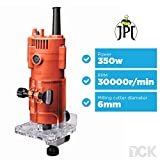 JPT Heavy Duty Compact Router/Trimmer Fixed Base, Edge Guide for Woodworking/Wood Laminate Trimmer