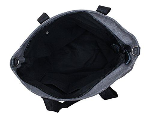 PiriModa, Borsa a spalla donna multicolore multicolore 40x35x15cm(B+H+T) grigio/nero
