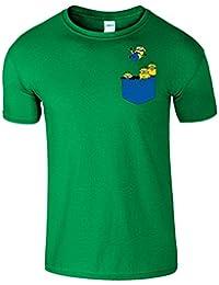 Pocket Minions Figuren Herren T-Shirt Komisch Günstling Tshirt