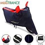 Mototrance Sporty Arc Blue Red Bike Body Cover for TVS Ntorq 125