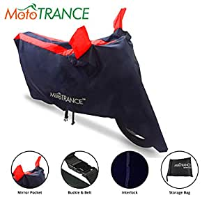 Mototrance Sporty Arc Blue Red Bike Body Cover For Royal Enfield Bullet 500