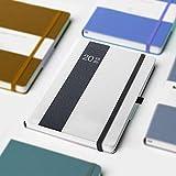 Planning 2019hebdomadaire/mensuel Année scolaire Agenda Hardcover Planner Accroître la Productivité, Gestion du temps Premium Plus épais papier ordinateur portable avec porte-stylo et pochette A5(21,6x 12,7cm) gris...