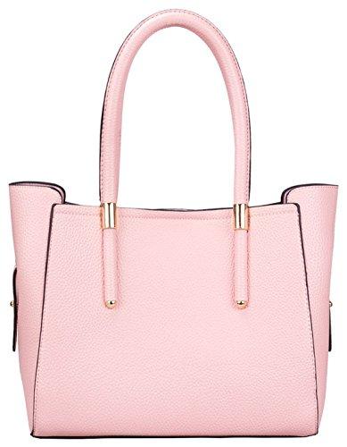 Kukubird Jennie Ecopelle Oro Fibbia Tracolla Handbag Pink