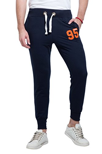 Alan Jones Solid Men's Joggers Track Pants (JOG18-D95-NAVY-L_Large_Navy)