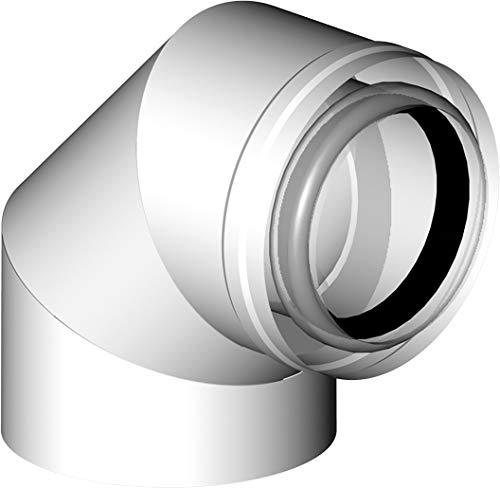 Almeva LAS Bogen 90° mm PPH/PPH raumluftunabhängige Betriebsweise DN 60/100