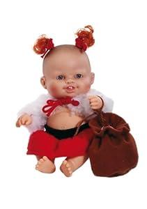 Paola Reina - Sara, muñeca de Vinilo, Vestido en Papá Noel 22 cm (01133)