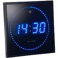 Lunartec - Horloge murale Radio-Pilotee à LED bleue