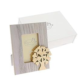 Cornice portafoto legno albero della vita 12 X 9 cm scatola regalo legno