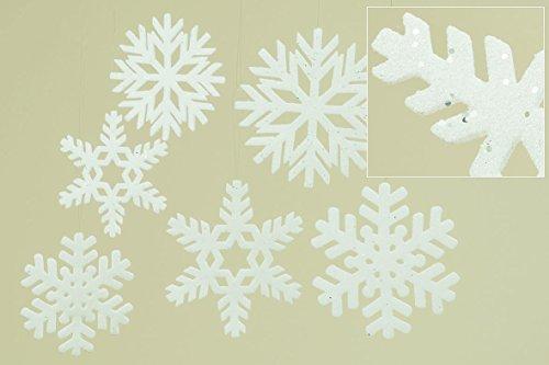 ocke Kunststoff weiß Ø 20 cm, Fensterdeko, Weihnachten, Winter, Christmas (Schneeflocke Kunststoff)