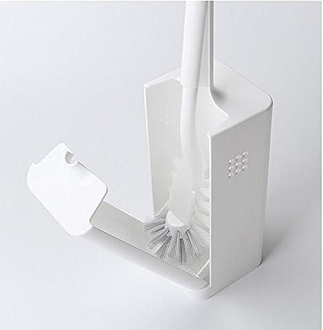 Toilet Brush Set Bathroom Cleaning Brush with Box,White