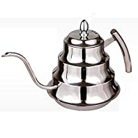 1200ML Stainless Steel Coffee Drip Kettle Tea Pot Coffee Pot Coffee Percolator