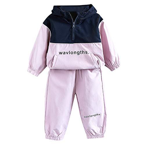 Kostüm Brief Jacke - Winkey Kids Set, Casual Kids Baby Trend Mädchen Junge Kapuzen Brief Sweatshirt Jacke Hose Kostüm