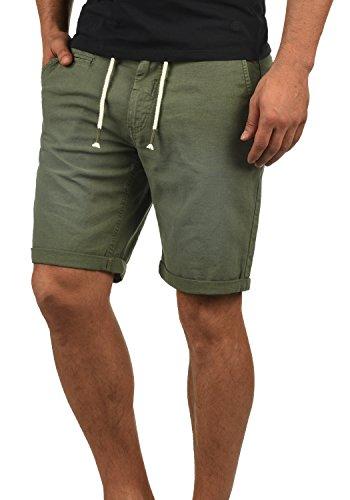 Leinen T-shirt Shorts (Blend Lias Herren Leinenshorts Kurze Leinenhose Bermuda Regular Fit, Größe:XL, Farbe:Dusty Green (70595))