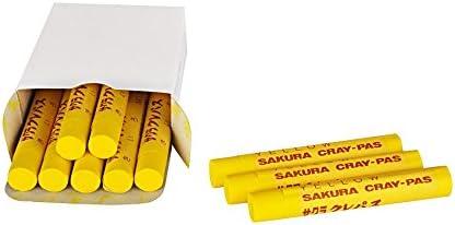 Sakura Craypas Oil Pastels Large Size - Yellow - Pack of 10