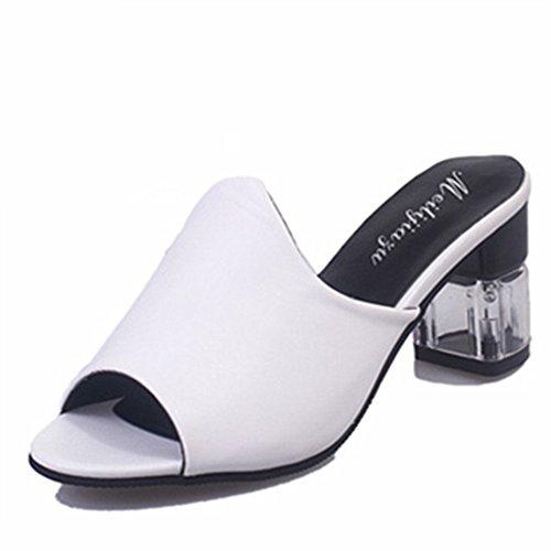 Été sandales mode poissons la bouche/chaussures respirants/épais avec pantoufles de bout ouvert occasionnels A