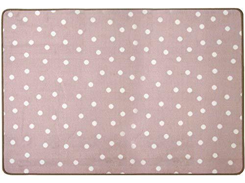 Primaflor - Ideen in Textil Kinderteppich Spielteppich Punto Pastell Rosa - 140x200 cm, Kinderzimmerteppich Mädchen, Spielteppich, Moderner Teppich für KInderzimmer, Babyzimmer Teppich