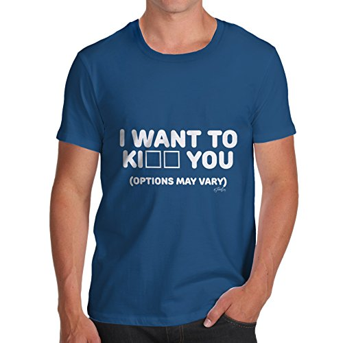TWISTED ENVY Herren T-Shirt Königsblau
